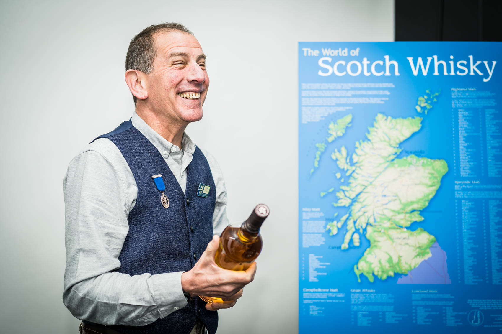 whisky tasting with Ronnie Berri